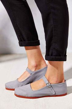 1960s Style Shoes  Overdyed Cotton Mary Jane