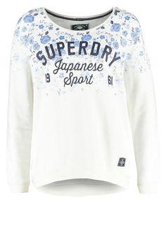 New Superdry Women Sweater Sweatshirt Winter White Floral Size: M #Superdry