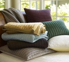 Pottery Barn. Silk Channel Two Tone Quilts.  Colors shown: consider Dr. Thyme, Espresso or Brownstone.