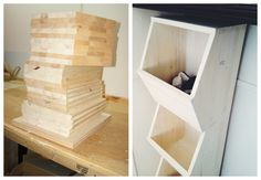 I like the shape of these shelves for a bootroom/closet/toy sorter