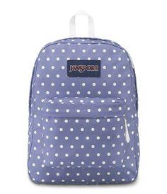 60469faeb4 JanSport SuperBreak Backpack - Bleached Denim White Dot