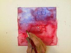 Watercolor technique:  back washes #journal #art #watercolor