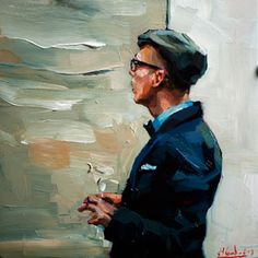 The Artist   5.9 x 5.9 in. Oil on board  Edward B. Gordon
