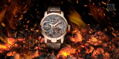 Our #WOTD is the Armin Strom Tourbillon Skeleton Fire. The watch's movement is completely skeletonized and stunning.