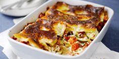 Lasgnelevyjen sijaan juustohöylällä leikatut munakoison tai kesäkurpitsan siivut = gluteeniton