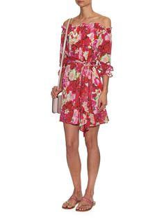 Fru Fru floral-print silk dress | Isolda | MATCHESFASHION.COM