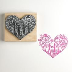 You and Me  Wedding Rubber Stamp
