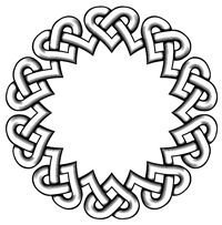 Round Knot Tutorial - Making Round Knots with Word Art Celtic Border, Celtic Circle, Celtic Heart, Celtic Mandala, Celtic Knot Tutorial, Celtic Symbols, Celtic Knots, Celtic Braid, Bijoux Fil Aluminium