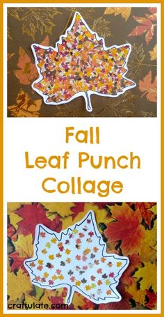 Fall Leaf Punch Collage from Craftulate- awesome art project for kids with fine motor skills and could use for a pointillism art unit!