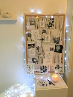 Mon visionboard ou tableau de visualisation linspiration et les envies prennent vie ! how to make a vision board that works + free quotes String Lights Outdoor, Outdoor Lighting, Visualisation, Creating A Vision Board, Setting Goals, Goal Settings, House Design, Frame, Wall
