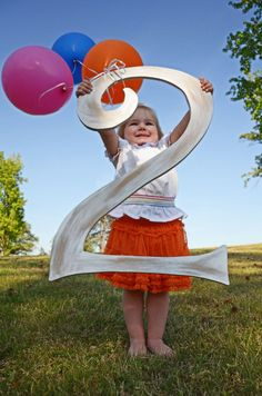 2 year old birthday. Fun idea for every year!