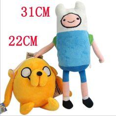 2PCS Adventure Time Finn Jake Plush Doll