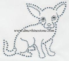 Chihuahua Rhinestone Transfer Pattern