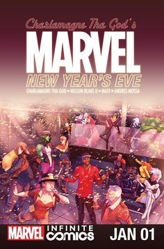 Marvel New Year's Eve Special Infinite Comic n°1 (01.01.2017) // Charlamagne tha God (The Breakfast Club, Uncommon Sense) is hosting a New Year's Eve bash and all the Marvel U's biggest VIPs are invited…only Norman Osborn's not happy about getting snubbed!  #marvel #new #year #comics