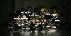 PICA / PAC present Croation artist Viktor Popovic's installation at Portland Art Center. Table Lamp, Lighting, Bling, Home Decor, Table Lamps, Jewel, Decoration Home, Room Decor, Lights