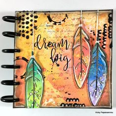 Art Journal -  Using distress oxide inks and fun mixed media techniques. Video also available