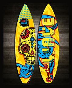 These are concepts of a surfing boards collection 2011-2012, made exclusivly for surfing school EZZE wave. Illustrations were made via tablet, soon full collection of 6 boards would be shared.
