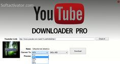 YouTube Downloader Pro is world best downloading software. YouTube is called world popular website and it works as a video search engine.