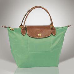 Longchamp-Le-Pliage-Refined-Folding-Green-Handbag
