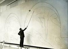 Henri Matisse working on The Dance - 1910