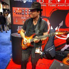 Rob Balducci Demoing Amplifire at NAMM