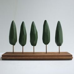 Fab.com | Cypress Trees Tabletop Forest