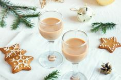 The Thermomix makes it easy for you to prepare great dishes, pastries and … - Christmas Winter Cocktails, Baileys, Nutella, Glass Of Milk, Panna Cotta, Holiday, Christmas, Alcoholic Drinks, Dishes