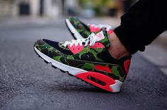 #Nike Air Max 90 Infrared Camo #Atmos #sneakers