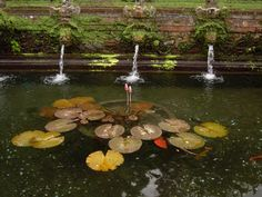 Fountain in Balinese Temple