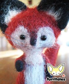Needle Felted Red Fox by Furritales on Etsy