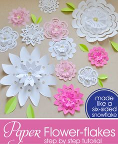 1528 best paper flowers images on pinterest in 2018 artificial instructions for making paper flower flakes mightylinksfo
