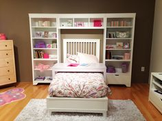 Beautiful girl's room furniture + storage space by Young America! #hpmkt
