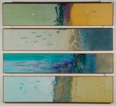 fred williams - Google Search Abstract Landscape, Landscape Paintings, Abstract Art, Fred Williams, Contemporary Art Artists, Australian Artists, Triptych, Painting Inspiration, Collage Art