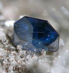 Anatase bleue avec inclusions de Rutile. Tan-y-grisiau, Blaenau Ffestiniog, Wales Photo Crazy Dave Green
