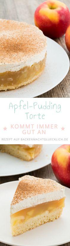 Diese Apfel-Sahne Torte überzeugt jeden! Mürber Boden, fruchtige Apfel-Füllung und cremige Sahne-Haube machen dieses Apfelkuchen-Rezept so genial. Das müsst ihr probieren!