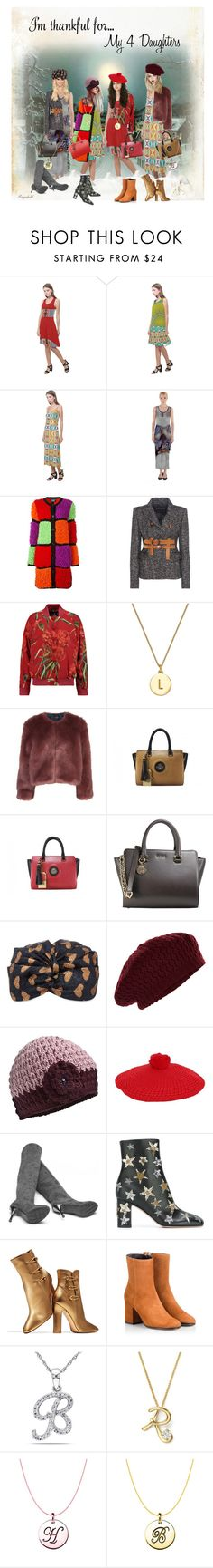 """""""I'm Thankful for my 4 Daughters"""" by ragnh-mjos ❤ liked on Polyvore featuring Boutique Moschino, Fabel, Tom Ford, Dolce&Gabbana, Kate Spade, Stine Goya, Gucci, Accessorize, Nirvanna Designs and Valentino"""