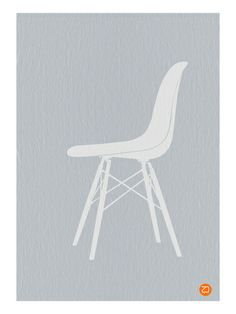 Naxart 'Eames White Chair' Graphic Art Print on Canvas Size: Comfortable Office Chair, Outdoor Dining Chair Cushions, Cool Posters, Eames, Canvas Size, 5 D, Framed Artwork, Graphic Art, Canvas Prints