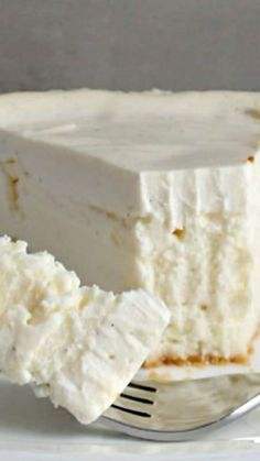 Best Cheesecake EVER ~ This is exactly what cheesecake should be. A light crust … Best Cheesecake EVER ~ This is exactly what cheesecake should be. A light crust with a creamy layer of cheesecake and a slightly tart crust. Best Cheesecake, Cheesecake Recipes, Dessert Recipes, Cheesecake Crust, Classic Cheesecake, Creamy Cheesecake Recipe, Cooker Cheesecake, Light Cheesecake, Snacks