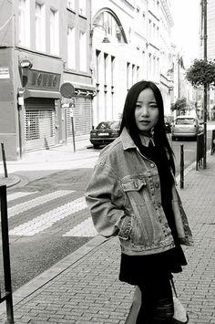 A vintage jean jacket found in Brussels