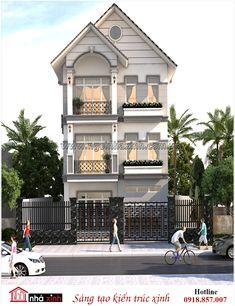 Nhà xinh của gia đình anh Thọ được thiết kế theo phong cách hiện đại. Hình khối rõ ràng, màu sắc trang nhã mang lại nét đẹp trẻ trung và tươi mới cho mẫu nhà phố đẹp.