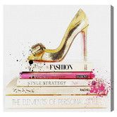 Found it at Wayfair.ca - Gold Shoe & Fashion Books Canvas Print, Oliver Gal