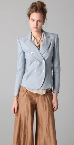 Sooo loving the color and how the buttons/lapels line up on this Joor Faltimora jacket $565 diy?