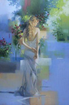 Summer Dawn - 36x24 - Richard S. Johnson - Addison Art Group