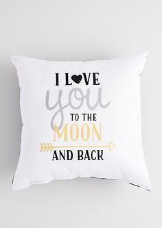 Metallic To the Moon Pillow | rue21