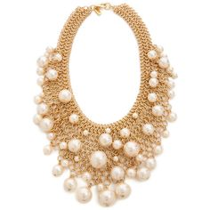 Kenneth Jay Lane Cascading Imitation Pearl Necklace - Pearl and other apparel, accessories and trends. Browse and shop 10 related looks.