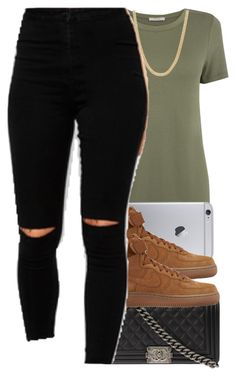 """6/9/2016"" by swagger-on-point-747 ❤ liked on Polyvore featuring Oasis, NIKE and Chanel"