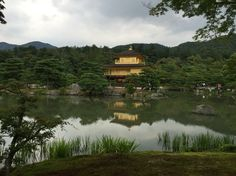 Golden temple in Kyoto, Japan