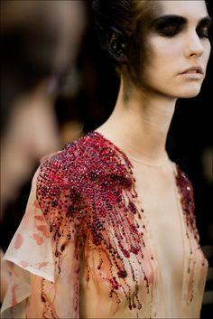 Oxblood Rhinestone Haute Couture