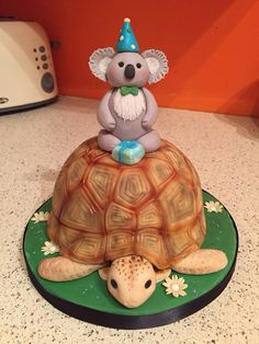The tortoise and the koala. Chocolate cake and fondant. The tortoise and the koala. Chocolate cake and fondant. Russian Tortoise, Turnip Greens, Ice Plant, Protein Rich Foods, Spring Mix, Hens And Chicks, Eat Fruit, Tortoises, Chocolate Cake