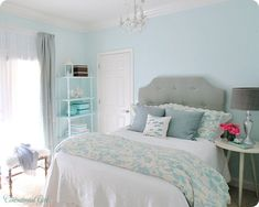 Teen Girl Bedrooms - Most exciting styling tactic and examples. Hungry for more brilliant teen room decor designs simply jump to the image to read the pin suggestion 4561582727 at once Turquoise Girls Rooms, Bedroom Turquoise, Blue Rooms, Blue Walls, Bright Walls, White Walls, Silver Bedroom, Blue Bedroom, Bedroom Decor